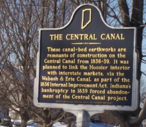 Central Canal historical marker